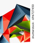 vector low poly style 3d... | Shutterstock .eps vector #696727450