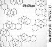 abstract geometric background... | Shutterstock .eps vector #696731464
