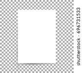 white sheet of paper format a4... | Shutterstock .eps vector #696731533