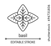 basil linear icon. thin line...   Shutterstock .eps vector #696731836
