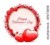 valentine's day vector... | Shutterstock .eps vector #69673858