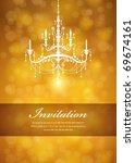 luxury chandelier background 02 | Shutterstock .eps vector #69674161