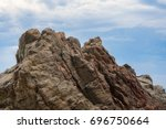 Cliffs Mountain Ridge. Rocky...