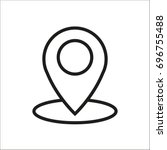 vector flat icon geolocation | Shutterstock .eps vector #696755488