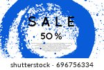 social media sale banner with... | Shutterstock .eps vector #696756334