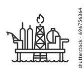 offshore drilling platform | Shutterstock .eps vector #696756364