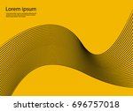 abstract wavy background for... | Shutterstock .eps vector #696757018