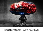 north korea nuclear threat... | Shutterstock . vector #696760168