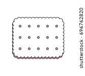 sweet cookie dessert | Shutterstock .eps vector #696762820