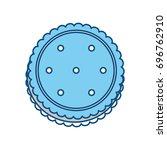 sweet cookie dessert | Shutterstock .eps vector #696762910