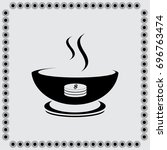 a bowl of soup vector icon | Shutterstock .eps vector #696763474