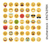 large set of vector smileys ... | Shutterstock .eps vector #696763984