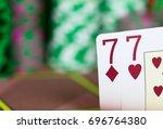 casino texas hold'em poker game....   Shutterstock . vector #696764380