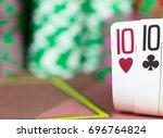 casino texas hold'em poker game....   Shutterstock . vector #696764824