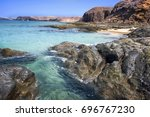 sea and rocks on the beaches of ... | Shutterstock . vector #696767230