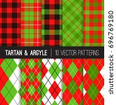 Christmas Argyle  Tartan And...
