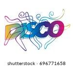 disco dancers line art.... | Shutterstock .eps vector #696771658