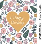 colorful floral pattern with a... | Shutterstock .eps vector #696776608
