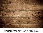 rustic wood planks background | Shutterstock . vector #696789463