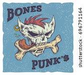 bones punks vector illustration....   Shutterstock .eps vector #696791164