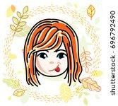 illustration of beautiful red... | Shutterstock . vector #696792490