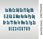 linear alphabet | Shutterstock .eps vector #696794449