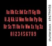 linear alphabet | Shutterstock .eps vector #696794458