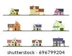 set of urban and suburban... | Shutterstock .eps vector #696799204