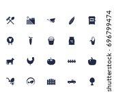 set of 20 harvest icons set...   Shutterstock .eps vector #696799474