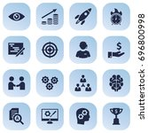 set of 16 business icons set... | Shutterstock .eps vector #696800998