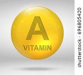 vitamin a. retinol vitamin drop ... | Shutterstock .eps vector #696805420