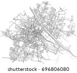 vector map of the city of... | Shutterstock .eps vector #696806080