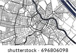 vector map of the city of...   Shutterstock .eps vector #696806098