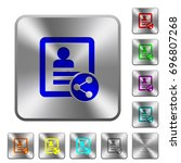 share contact engraved icons on ... | Shutterstock .eps vector #696807268