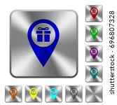 gift shop gps map location... | Shutterstock .eps vector #696807328