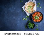 traditional indian british dish ... | Shutterstock . vector #696813733