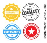 best quality stamps  stickers... | Shutterstock .eps vector #696817600