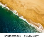 top view of a deserted beach.... | Shutterstock . vector #696823894