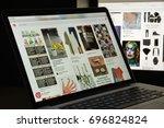 milan  italy   august 10  2017  ... | Shutterstock . vector #696824824