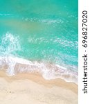 aerial view of sandy beach and... | Shutterstock . vector #696827020