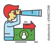 strategic vision  future trends ... | Shutterstock .eps vector #696827248
