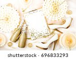 bachelorette party planner.... | Shutterstock . vector #696833293