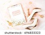 wedding planner checklist.... | Shutterstock . vector #696833323