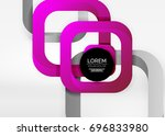 squares geometric shapes in... | Shutterstock .eps vector #696833980