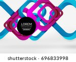 squares geometric shapes in... | Shutterstock .eps vector #696833998