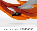 vector colorful wave lines in... | Shutterstock .eps vector #696834058