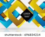 squares geometric shapes in... | Shutterstock .eps vector #696834214