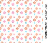 seamless pattern with cross...   Shutterstock .eps vector #696834250