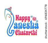 ganesha chaturthi  festival... | Shutterstock .eps vector #696834778
