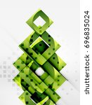 squares geometric object in... | Shutterstock .eps vector #696835024